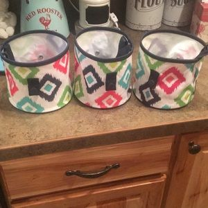 Set of 3 Thirty One Oh Snap Bins